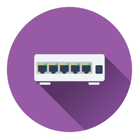 switch plug: internet switch icon. Flat color design. Vector illustration. Illustration