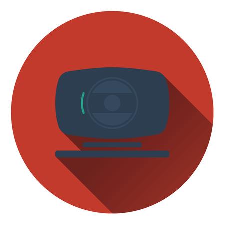 webcam: Webcam icon. Flat color design. Vector illustration.