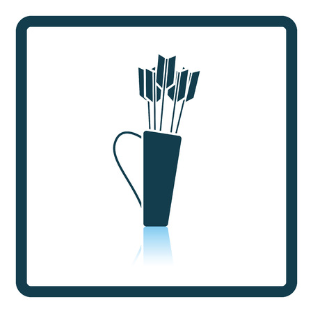 case history: Quiver with arrows icon. Shadow reflection design. Vector illustration.