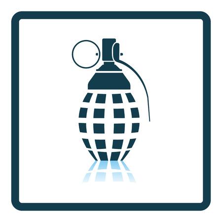 defensive: Defensive grenade icon. Shadow reflection design. Vector illustration.