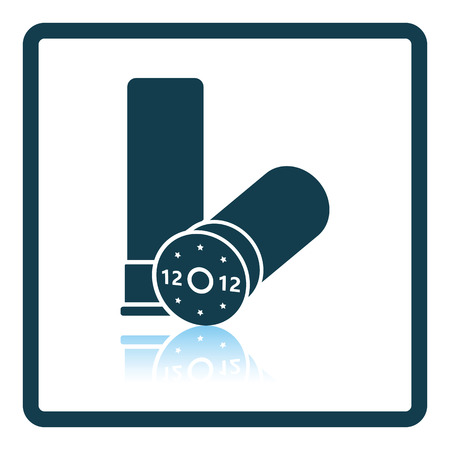 wad: Hunt gun ammo icon. Shadow reflection design. Vector illustration.