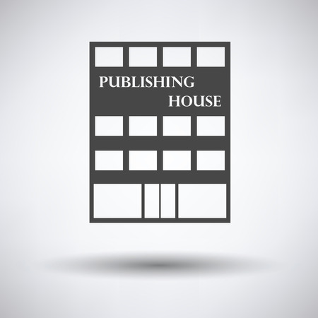 issuer: Publishing house icon on gray background, round shadow. Vector illustration.