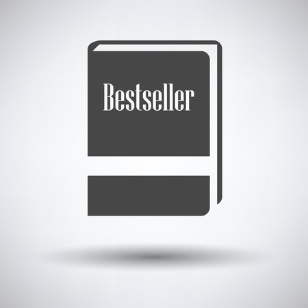 bestseller: Bestseller book icon on gray background, round shadow. Vector illustration.