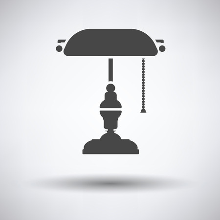 writers: Writers lamp icon on gray background, round shadow. Vector illustration.