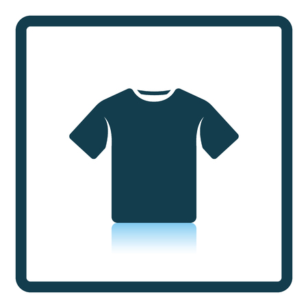 T-shirt icon. Shadow reflection design. Vector illustration.