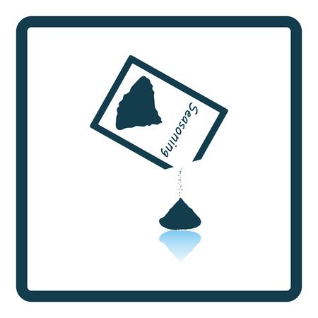 seasoning: Seasoning package icon. Shadow reflection design. Vector illustration.