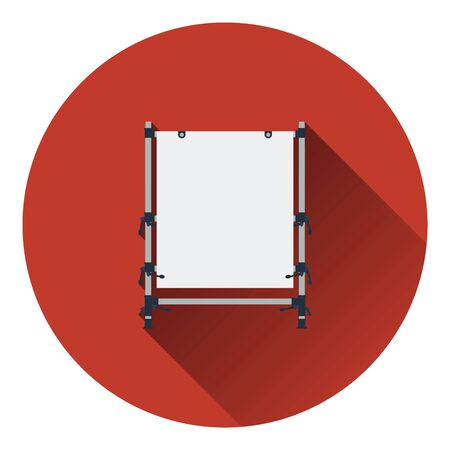 Icon of table for object photography. Flat color design. Vector illustration.