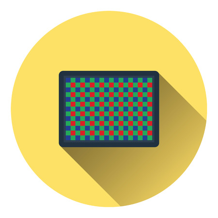 cmos: Icon of photo camera sensor. Flat color design. Vector illustration. Illustration