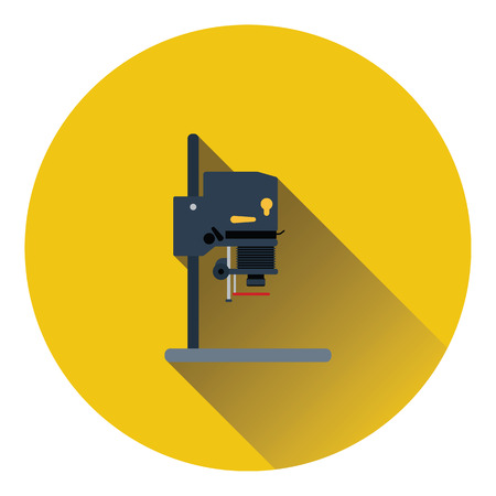 enlarger: Icon of photo enlarger. Flat color design. Vector illustration.