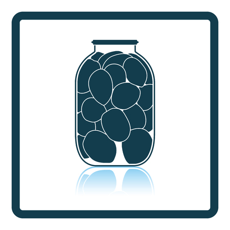 canned: Canned tomatoes icon. Shadow reflection design. Vector illustration.