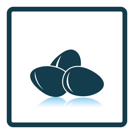reflection of life: Eggs icon. Shadow reflection design. Vector illustration.