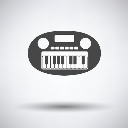 synthesizer: Synthesizer toy icon Illustration
