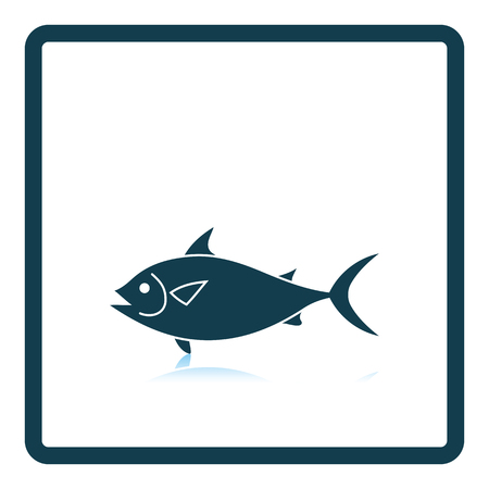 reflection of life: Fish icon. Shadow reflection design. Vector illustration. Illustration