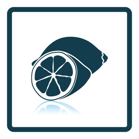 citrous: Icon of Lemon. Shadow reflection design. Vector illustration.