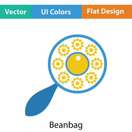 beanbag: Beanbag icon. Flat color design. Vector illustration.