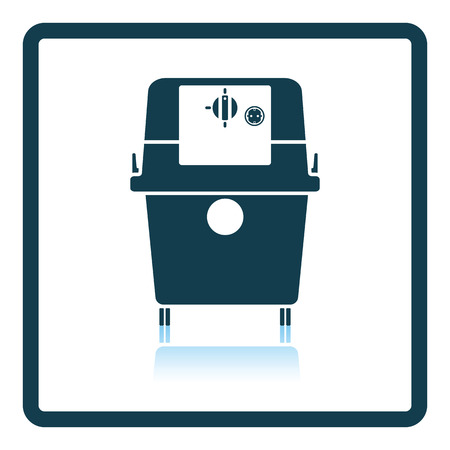 horsepower: Icon of vacuum cleaner. Shadow reflection design. Vector illustration.