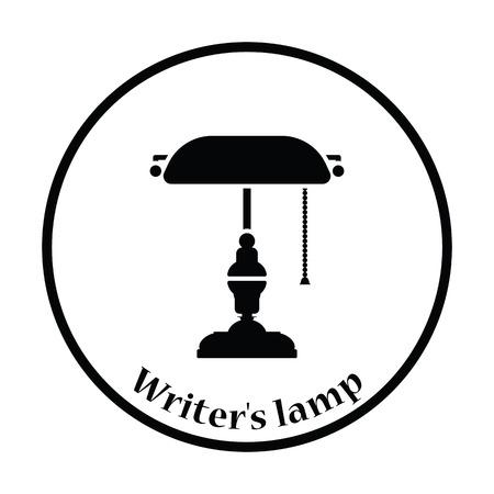 Writer Lampe-Symbol. Grauer Hintergrund Mit Grün. Lizenzfrei ...