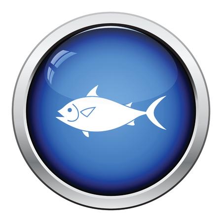 gill: Fish icon. Glossy button design. Vector illustration. Illustration