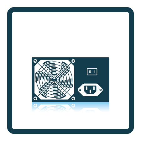 psu: Power unit icon. Shadow reflection design. Vector illustration. Illustration