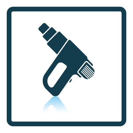 electric dryer: Icon of electric industrial dryer. Shadow reflection design. Vector illustration.