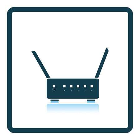 wan: wifi router icon. Shadow reflection design. Vector illustration.