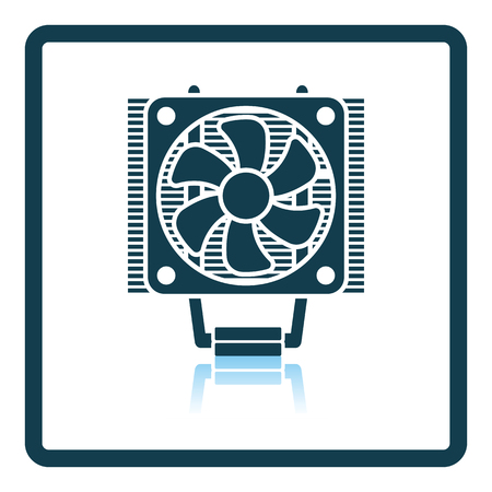 heat sink: CPU Fan icon. Shadow reflection design. Vector illustration.