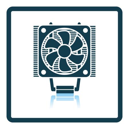metal parts: CPU Fan icon. Shadow reflection design. Vector illustration.