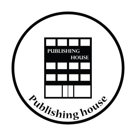 issuer: Publishing house icon. Thin circle design. Vector illustration.