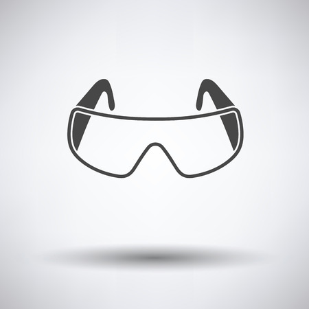 protective: Icon of chemistry protective eyewear Illustration