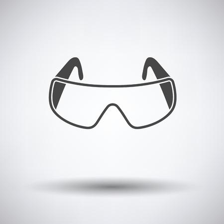 chemistry lab: Icon of chemistry protective eyewear Illustration