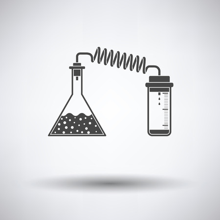 reaction: Icon of chemistry reaction with two flask