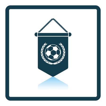 pennant: Football pennant icon. Shadow reflection design. Vector illustration. Illustration
