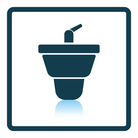 bidet: Bidet icon. Shadow reflection design. Vector illustration. Illustration
