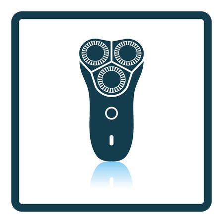 shaver: Electric shaver icon. Shadow reflection design. Vector illustration.