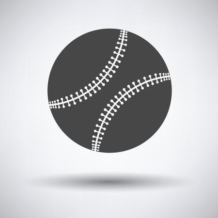 major league: Baseball ball icon on gray background, round shadow. Vector illustration. Illustration