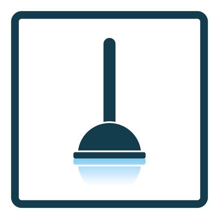 unblock: Plunger icon. Shadow reflection design. Vector illustration.