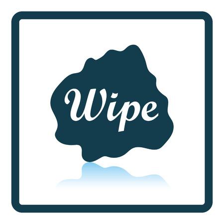 wipe: Wipe cloth icon. Shadow reflection design. Vector illustration. Illustration
