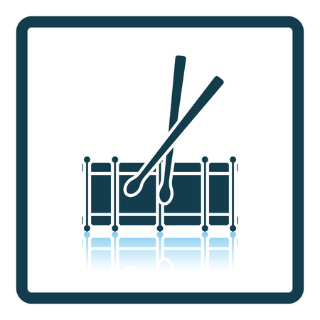 drumming: Drum toy icon. Shadow reflection design. Vector illustration.