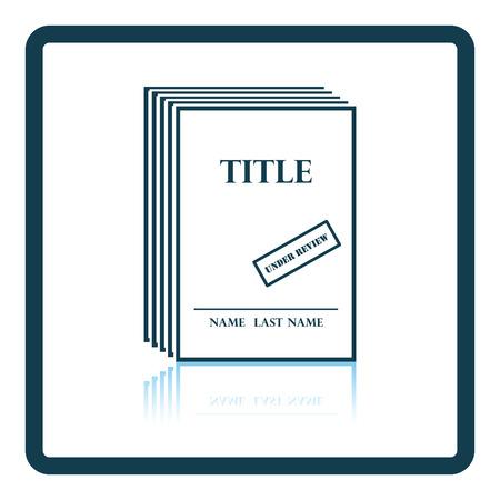 novels: Manuscript under review icon. Shadow reflection design. Vector illustration.