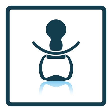 soother: Soother icon. Shadow reflection design. Vector illustration. Illustration