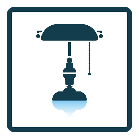 classic authors: Writers lamp icon. Shadow reflection design. Vector illustration.