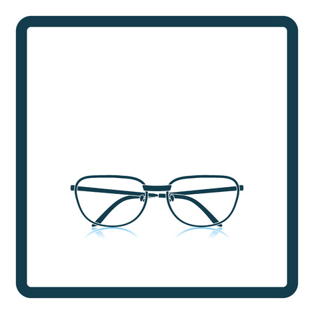 spectacle frame: Glasses icon. Shadow reflection design. Vector illustration.