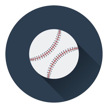baseball pitcher: Baseball ball icon. Flat color design. Vector illustration.