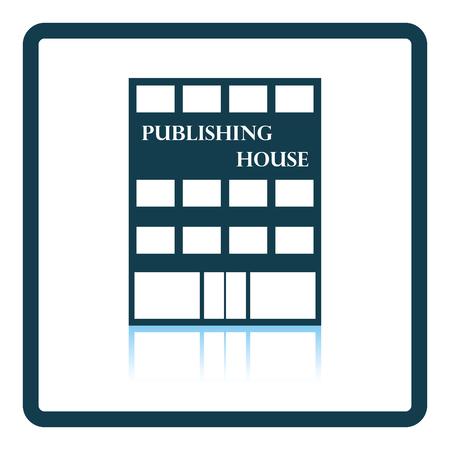 issuer: Publishing house icon. Shadow reflection design. Vector illustration.