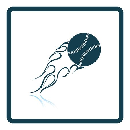 fire ball: Baseball fire ball icon. Shadow reflection design. Vector illustration. Illustration