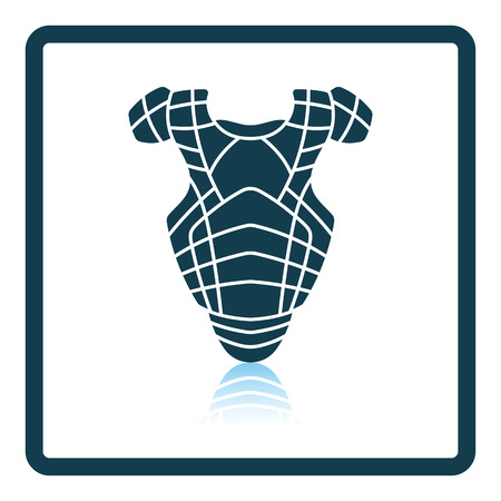 major league: Baseball chest protector icon. Shadow reflection design. Vector illustration. Illustration