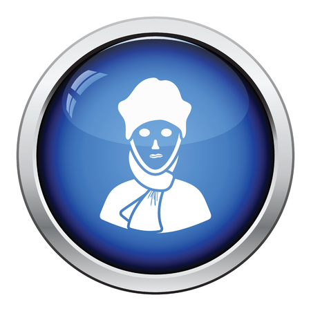 a poet: Poet icon. Glossy button design. Vector illustration. Illustration