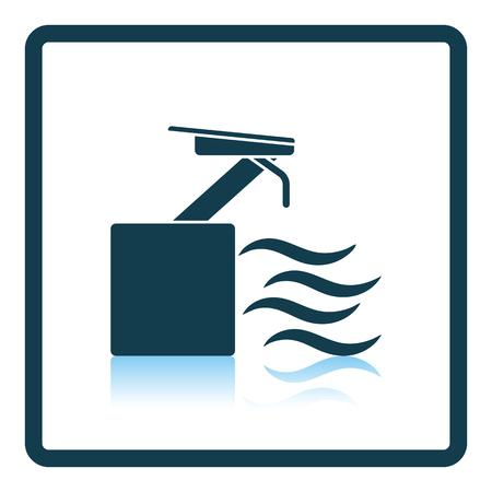 diving platform: Diving stand icon. Shadow reflection design. Vector illustration. Illustration