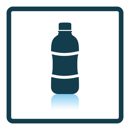 reflection in water: Icon of Water bottle . Shadow reflection design. Vector illustration.