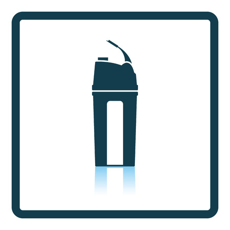reflection of life: Fitness bottle icon. Shadow reflection design. Vector illustration.